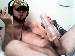 Str8 Bear Watching Porn And Fleshjack