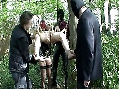 Master And 2 Slaves Play Out Doors Bmw