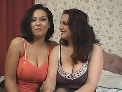 Busty lesbian MILFs