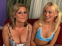 Blonde Mother Not Her Daughter Slutty Duo
