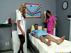 Busty Hot Doctor And Nurse Examine Their Sleeping Patient Then Fuck Him In The Name Of Science