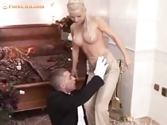 Sexy Blonde And Waiter Hot Anal