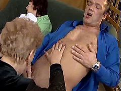 Aged Couple With Next Doors Mature