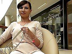 Jeny Smith White Pantyhose Flashing Spycam