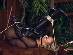 Bound Blonde In The Garden 2