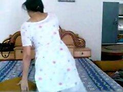 Punjabi Babe Strips And Masturbates While On Phone