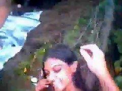 Having Fun With Indian Teen In Wood Public Nudity