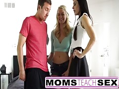 Step Mom And Son Make Teen Squirt In Hot Threesome