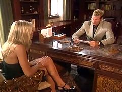 Blonde Girl Fucking Her Boss In His Office