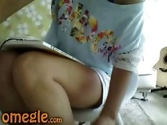 Omegle Girl Teases With Her Sexy Body