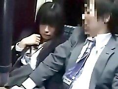Schoolgirl Blowjob To Geek On Bus