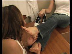 Foot Slut Girl Feet Worshiped