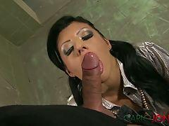 Carlojones Sexy Smoking Brunette Babe Milks His Dick
