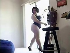 Brunette Bbw Beauty Poses Before Getting Spanked And Railed