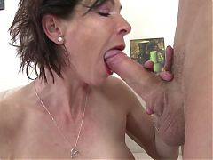Skinny Granny Suck And Fuck Young Boy's Cock