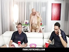 Familystrokes Teens Fucks Pervy Uncle During Superbowl